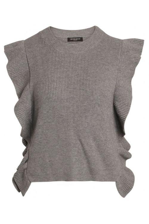 Bruuns Bazaar - Vest - Simona Innea Knit Vest - Grey Melange