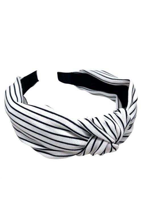 By Stær - Hårbøjle - No. 115 - Stripe White