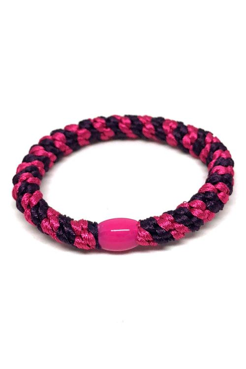 By Stær - Hårelastik - Braided Hairties - Multi Purple/Pink