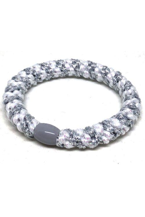 By Stær - Hårelastik - Braided Hairties - Multi White/Silver