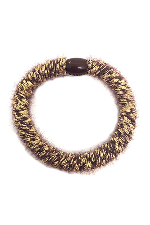 By Stær Hårelastik Braided Hairties Fluffy Brown/Gold Front