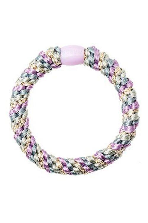 By Stær - Hårelastik - Braided Hairties - Multi Purple Rainbow