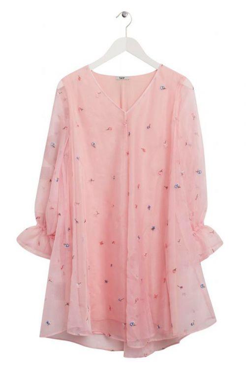 BZR  Kjole  Lowa City Dress  Soft Rose Front