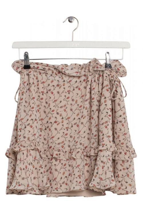 BZR - Nederdel - Doral Coral skirt - Cream print