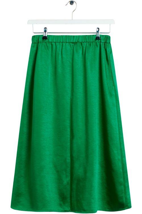 BZR  Nederdel  Satina  Nuri skirt  Ming Green Front