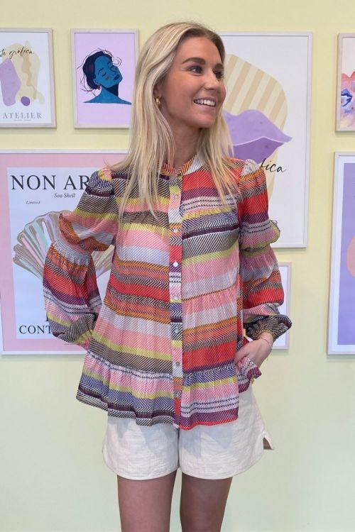 Continue - Bluse - Sanna Multi Stripe - Multi Stripe