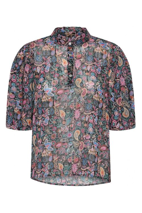 Continue Bluse Lotus Paisley Multi Multi Paisley Print Front