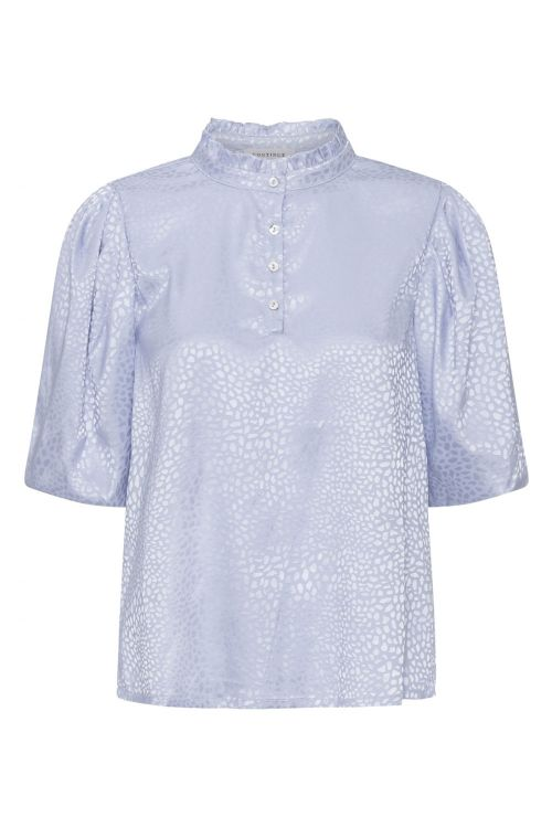 Continue Bluse Lotus Shinny Light Blue Front