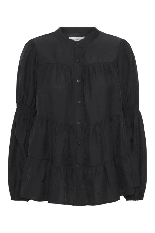 Continue - Bluse - Sanna Solid - Black