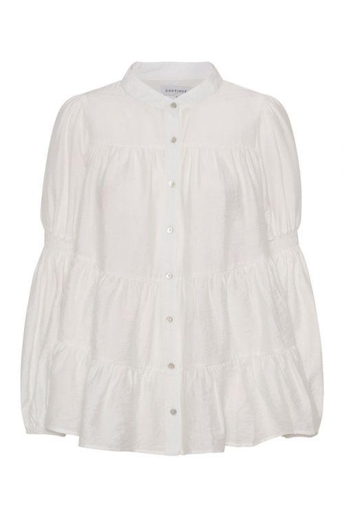 Continue - Bluse - Sanna Solid - White