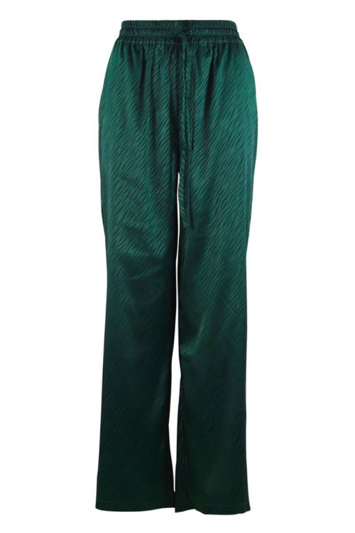 Continue - Bukser - Lea Zebra Pants - Bottlegreen