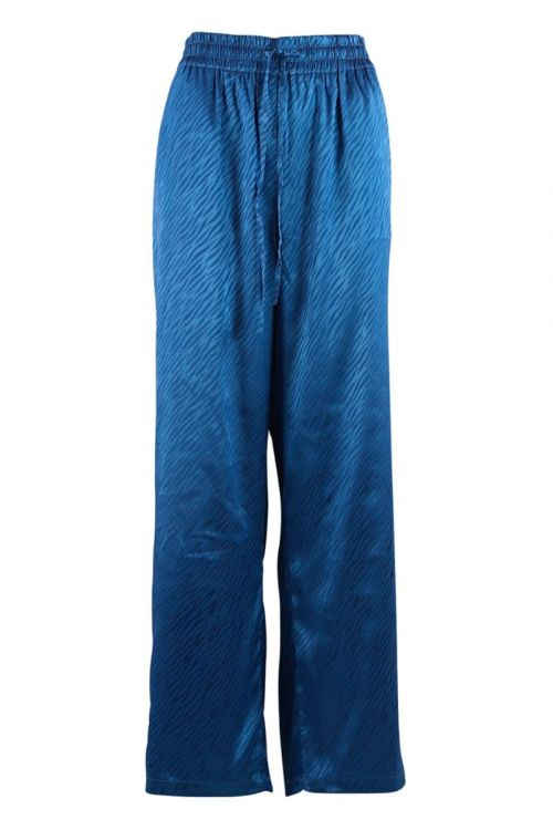 Continue - Bukser - Lea Zebra Pants - Electric Blue