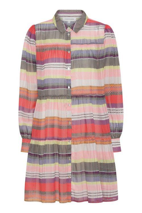 Continue - Kjole - Jeanne Multi Stripe - Multi Stripe