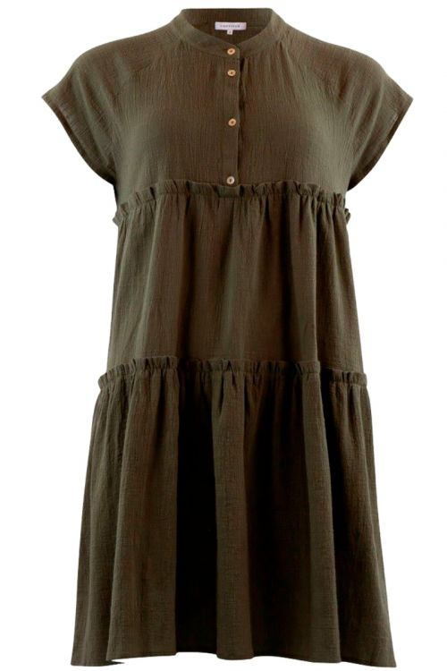 Continue - Kjole - Jytte Solid Dress - Army