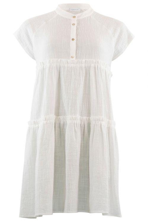 Continue - Kjole - Jytte Solid Dress - White