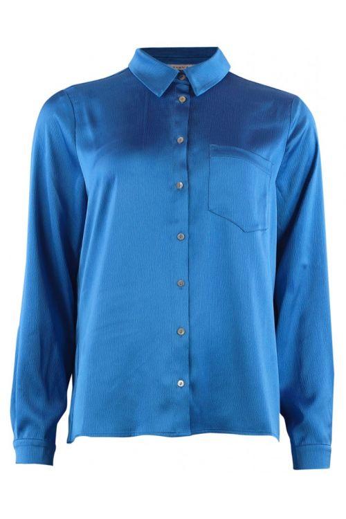 Continue Skjorte Jytte Shirt Electric Blue Front