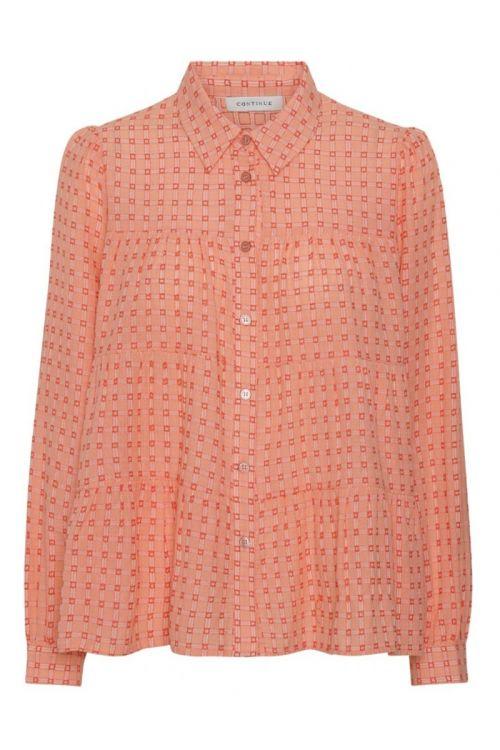 Continue - Skjorte - Melina Orange Check - Orange Small Check