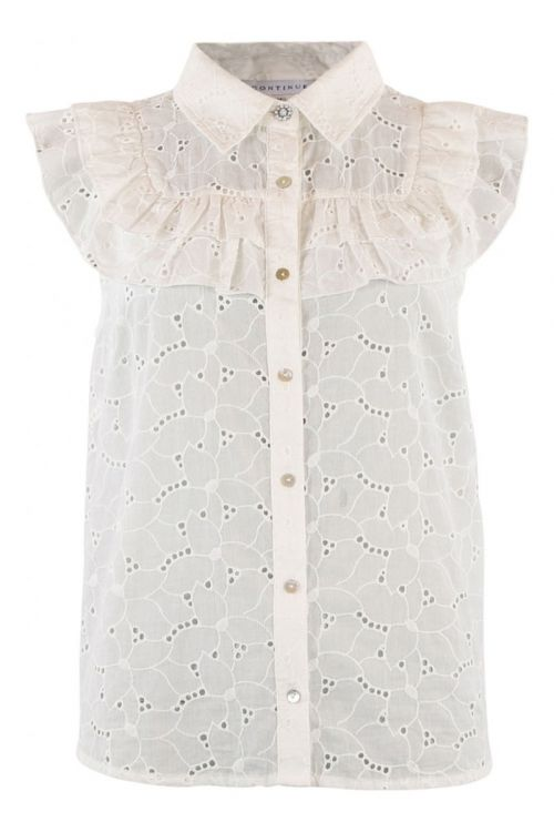 Continue Top Kassandra Anglaise White Front