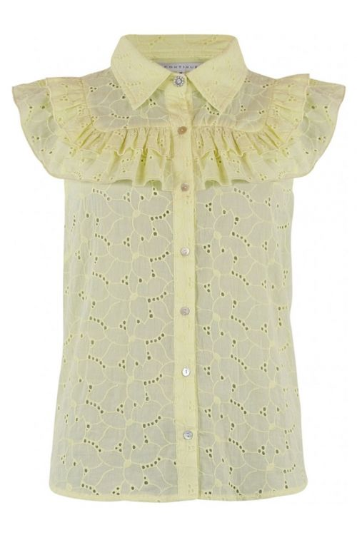 Continue Top Kassandra Anglaise Yellow Front