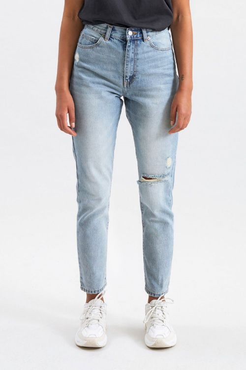 Dr. Denim Jeans Nora Downtown Blue Ripped Front