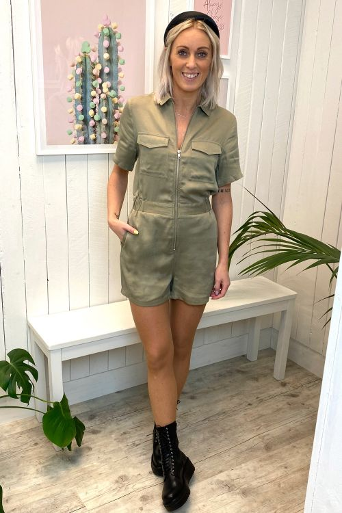 Dr. Denim Jumpsuit Montana Playsuit Green Agate Hover