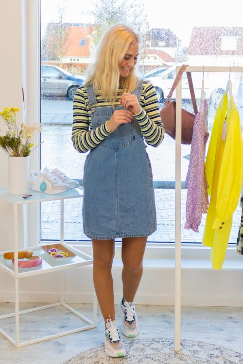 Dr. Denim Kjole Eir Dungaree Dress Day Shift Blue Hover