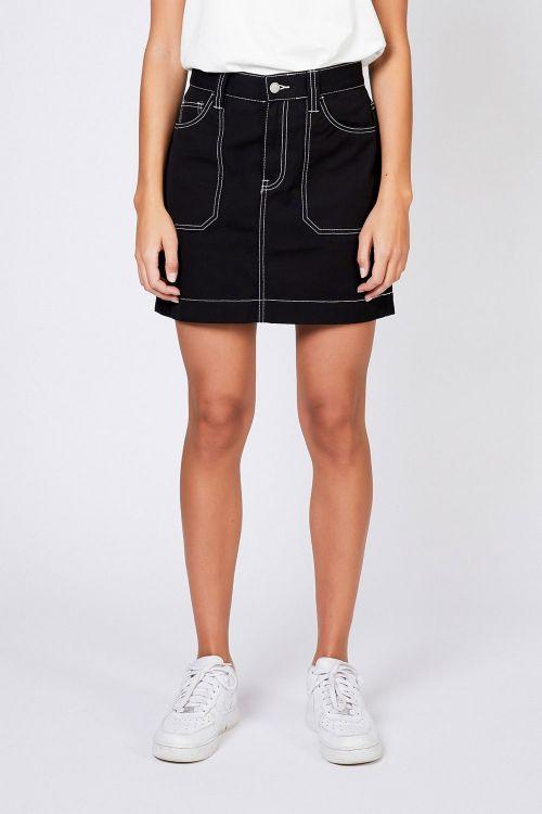 Dr. Denim Nederdel Tori worker Skirt Contrast Black Canva Front
