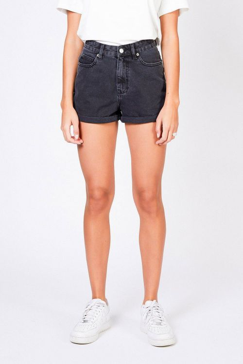 Dr. Denim Shorts Jenn Shorts Retro Black Front