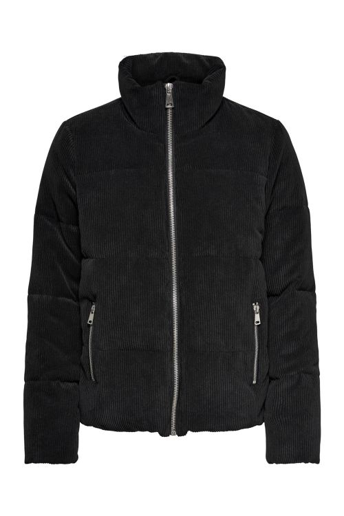 Jacqueline de Yong Jakke JDY New Lexa Padded Cordur Jacket Black Front
