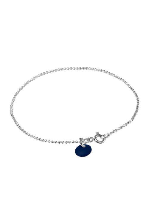 Enamel - Armbånd - Ball Chain Silver - Midnight