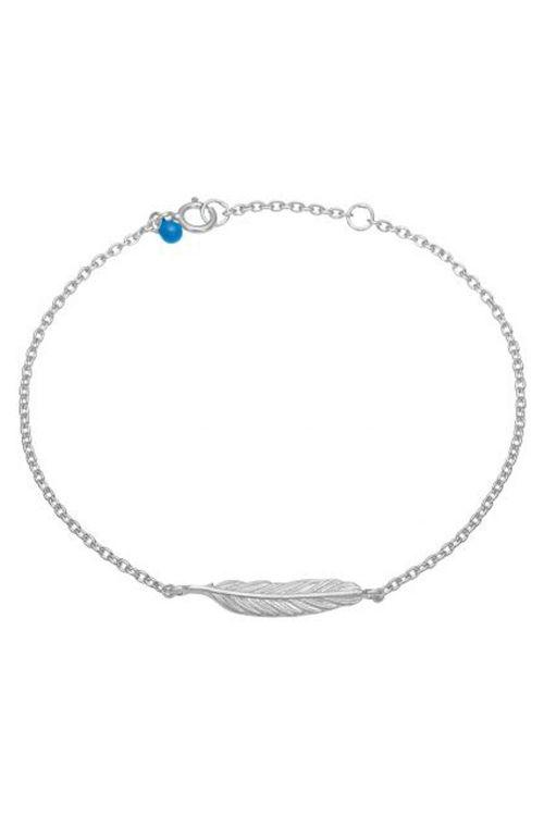 Enamel Armbånd Feather Bracelet Silver Front