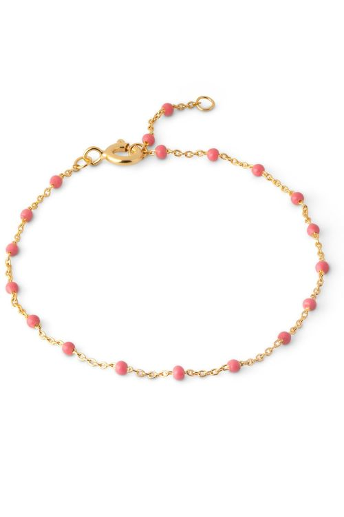 Enamel Armbånd Lola Bracelet Coral Front