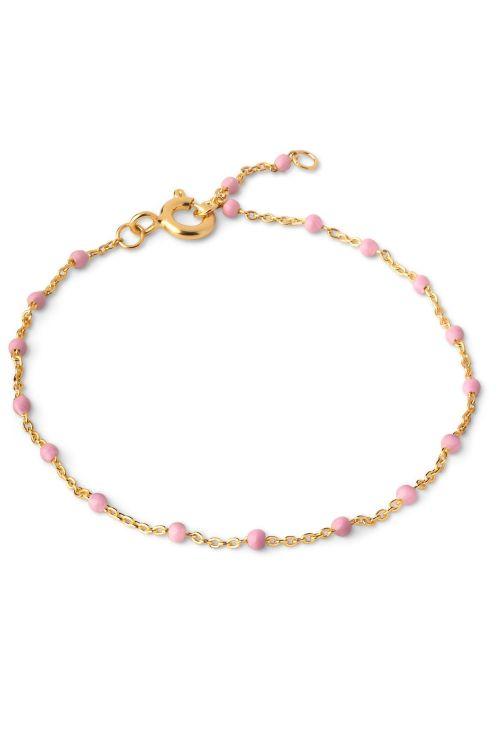 Enamel Armbånd Lola Bracelet Light Pink Front