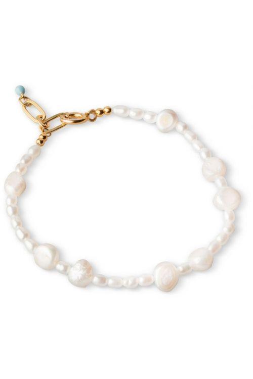 Enamel - Armbånd - Pearlie Bracelet - Gold