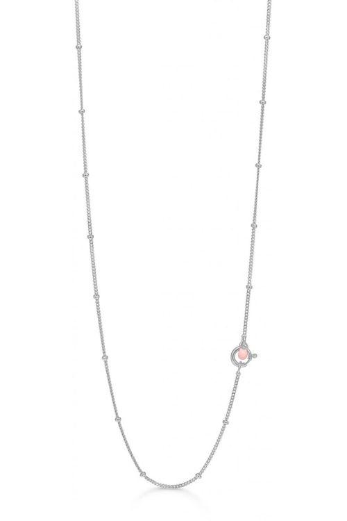 Enamel Halskæde Beaded Chain Silver Front