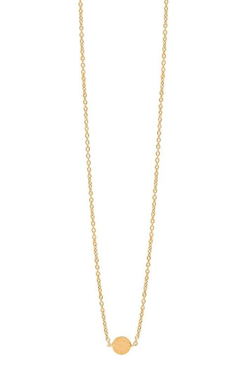 Enamel - Halskæde - Coin - Gold