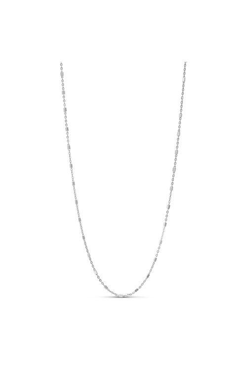 Enamel Halskæde Elva Necklace Silver Front