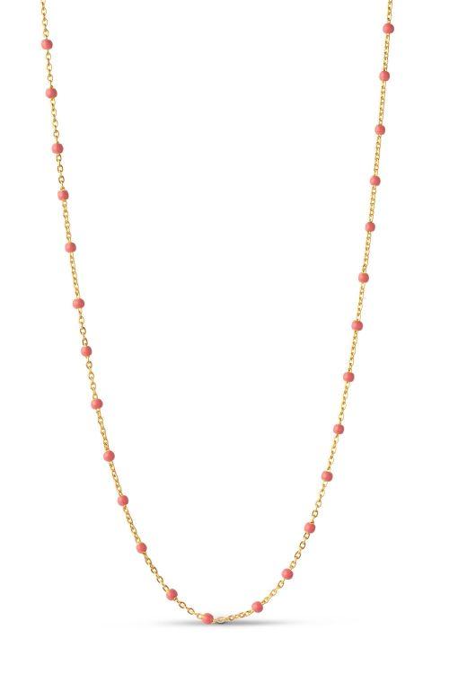 Enamel Halskæde Lola Necklace Coral Front