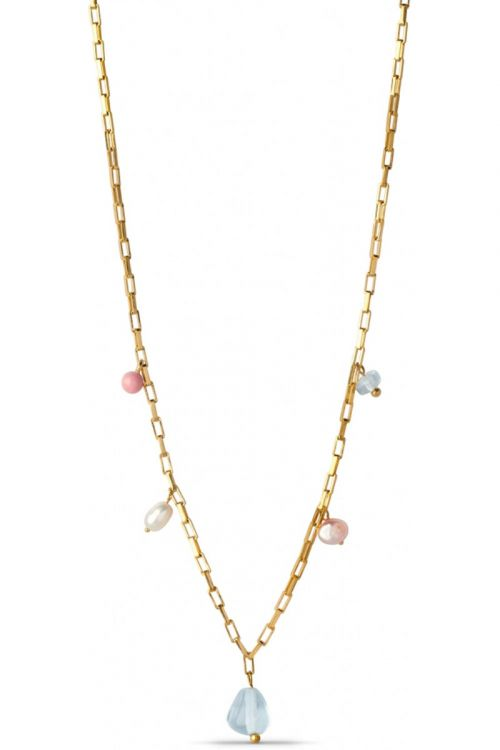 Enamel - Halskæde - Mellow Necklace - Gold