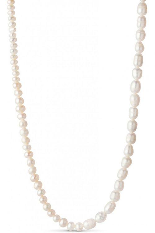 Enamel Halskæde Pearlie Necklace Gold Front