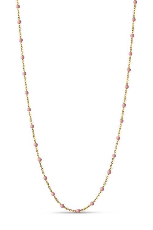 Enamel Halskæde Lola Necklace Light Pink Front