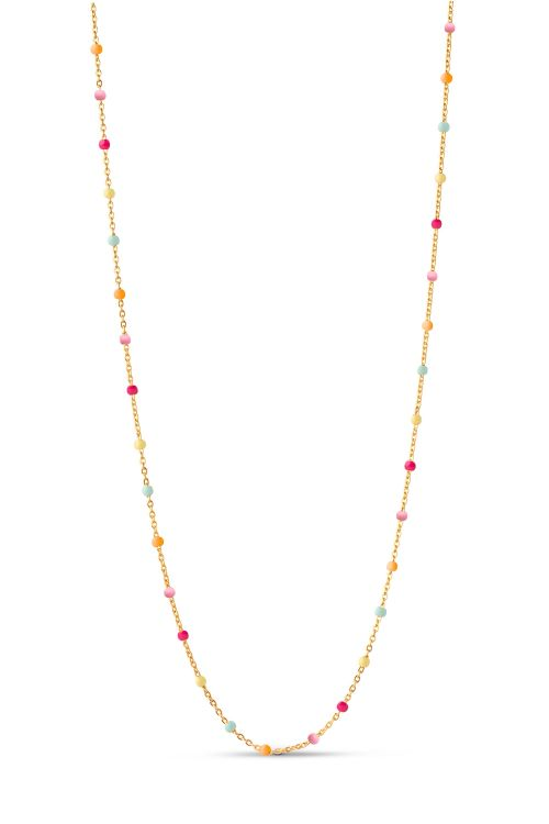 Enamel Halskæde Lola Necklace Rainbow Front