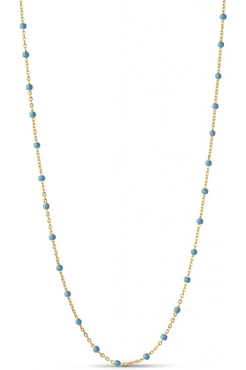 Enamel Halskæde Lola Necklace Blue Front