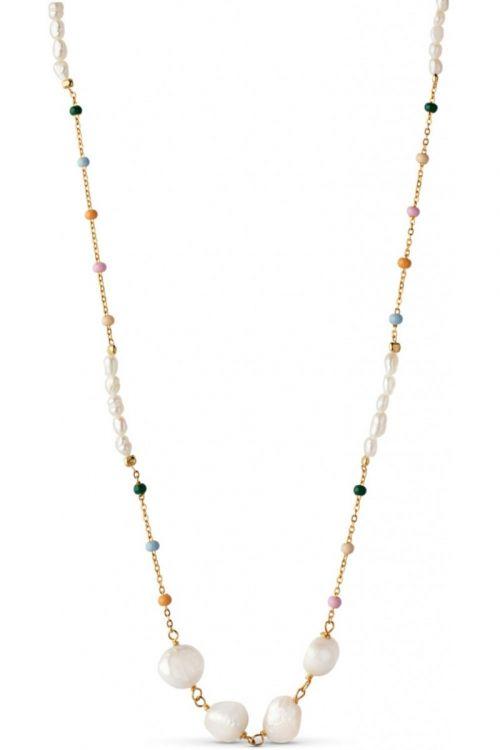 Enamel - Halskæde - Lola Perla Necklace - Dreamy/Pearl