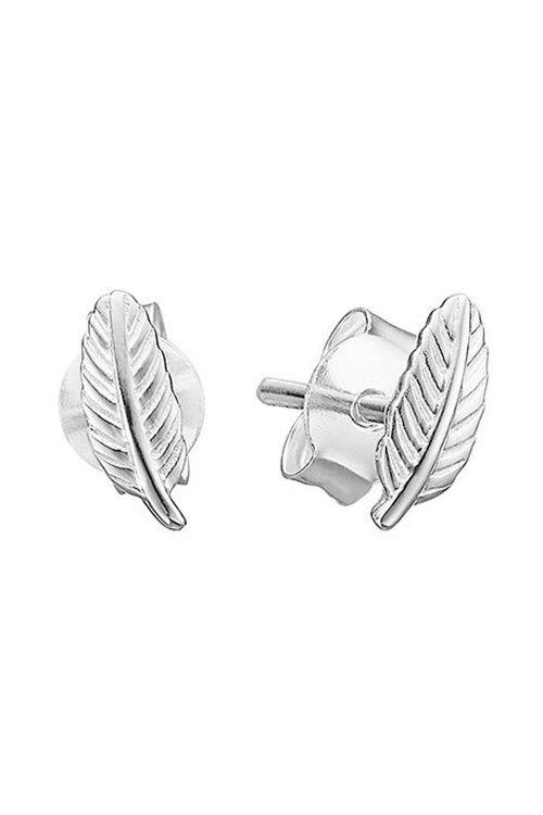 Enamel - Øreringe - Leaf - Silver