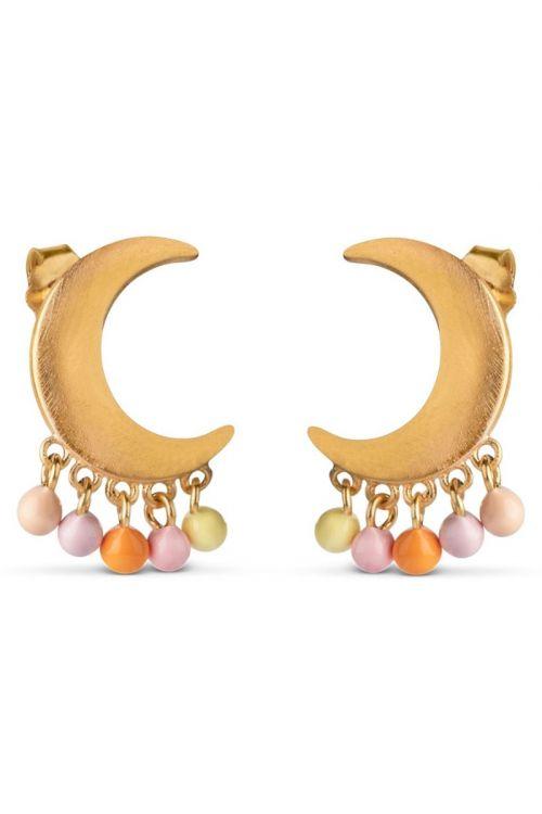 Enamel - Øreringe - Lune Earring - Peach/Light Pink/Orange/Light Yellow