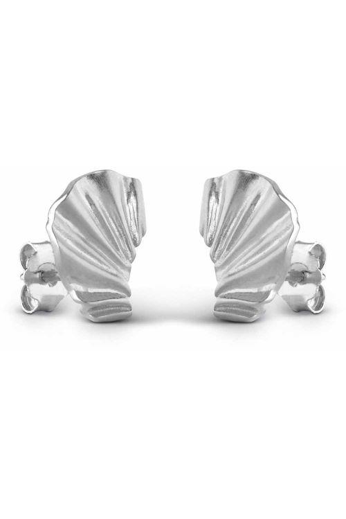 Enamel Øreringe Mini Wave Silver Front