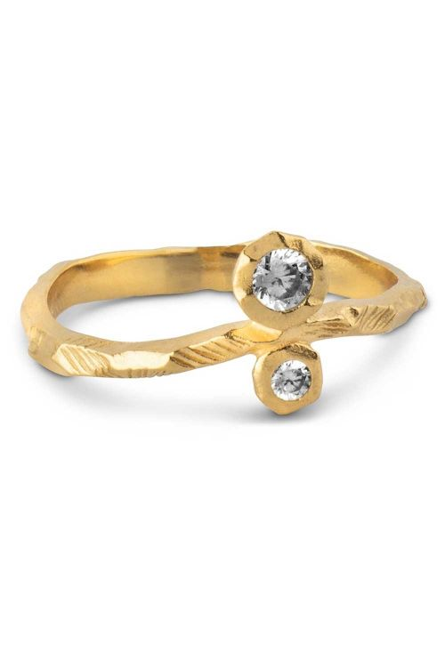 Enamel Ringe Kamma Ring Gold Front