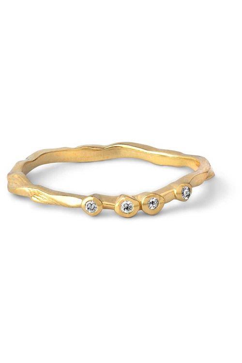 Enamel Ringe Lily Ring Gold Front