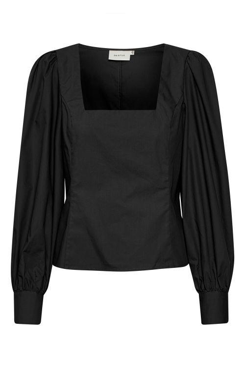 Gestuz Bluse Elvana GZ Blouse Black Front